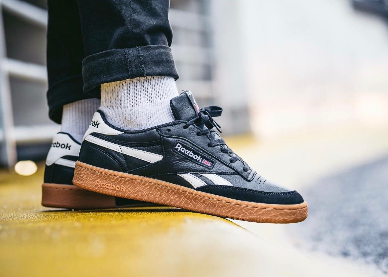 Reebok Club C 85: Black/Gum