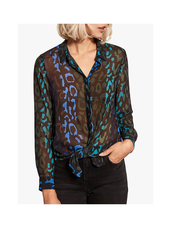 online shop outlet store sale authentic quality BuyMint Velvet Alex Animal Print Shirt, Multi, 6 Online at ...