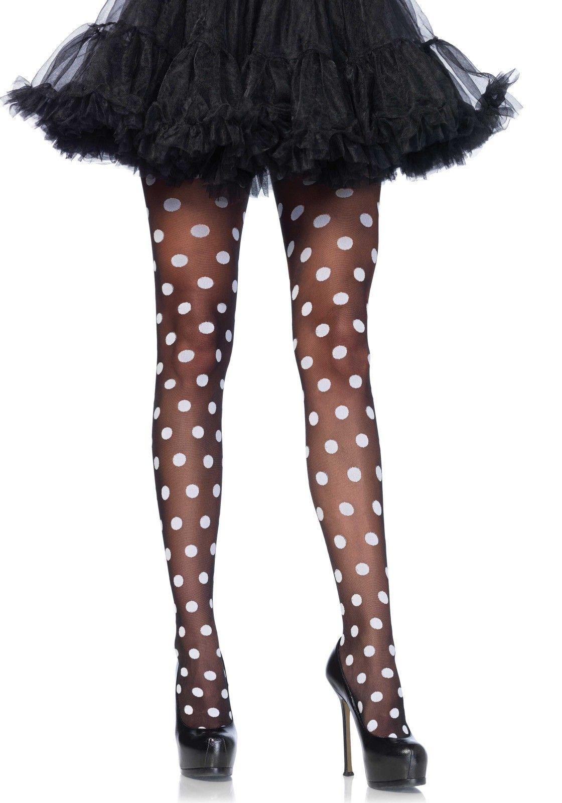 1a99288f89e5a Sexy legs zijn een must voor het festival seizoen, deze polkadot panty is  daar perfect voor! | PW Hoofs #stockings #party #festival