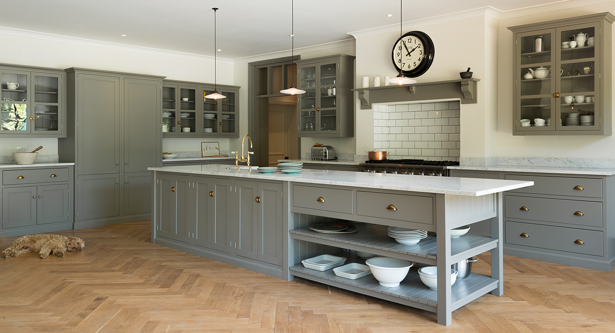 The Amazing Shaker Style Queens Park Kitchen By DeVOL Complete With Adorable Lazy Dog