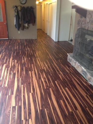 Trafficmaster Allure 6 In X 36 African Wood Dark Resilient Vinyl Plank Flooring