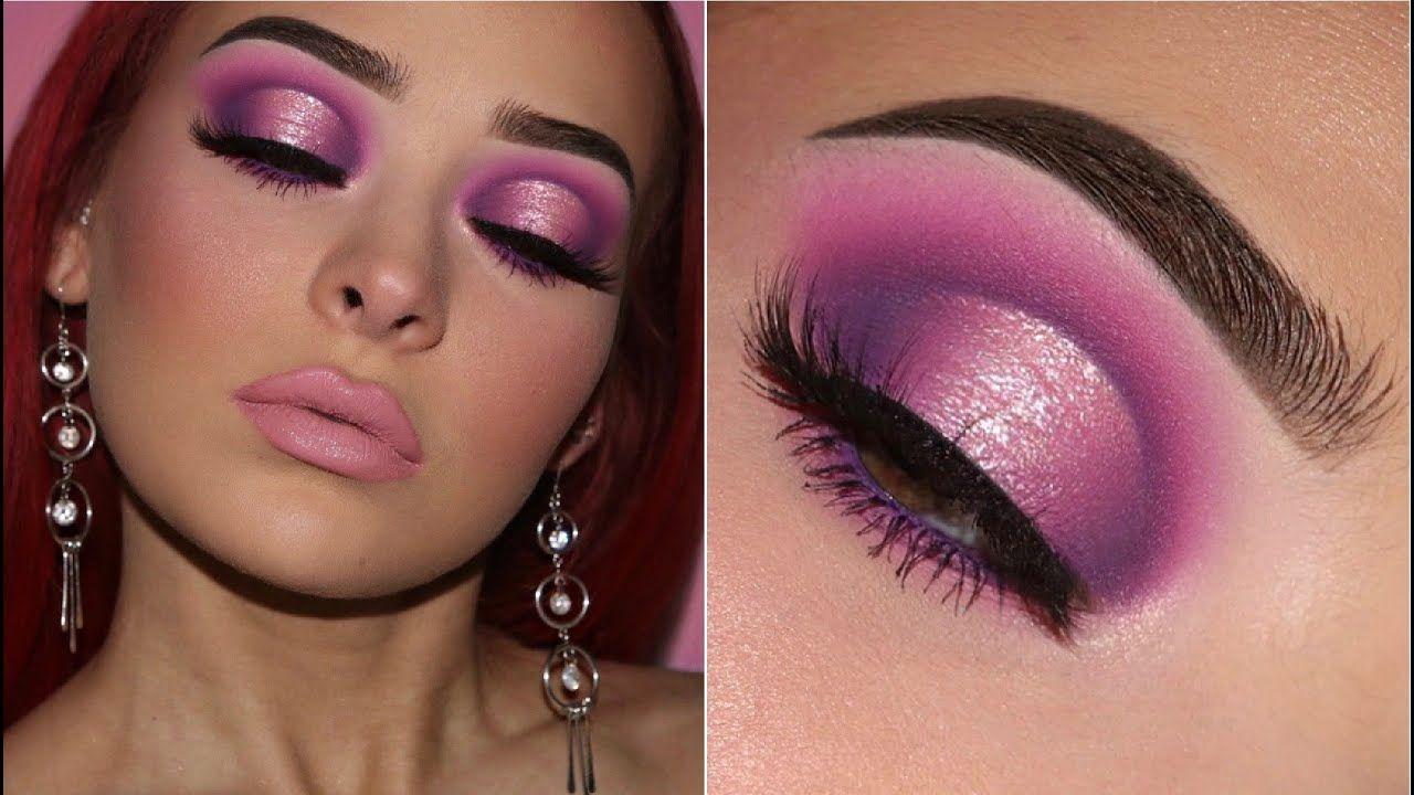 Soft Pink & Purple Halo Eye Makeup Tutorial YouTube