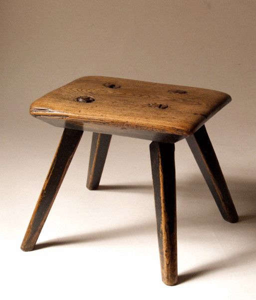 Painted English Early 19th Century Country Stool