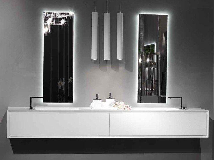 Doppel waschtischunterschrank design  LACKIERTER HÄNGENDER WASCHTISCHUNTERSCHRANK K.ONE | DOPPEL ...
