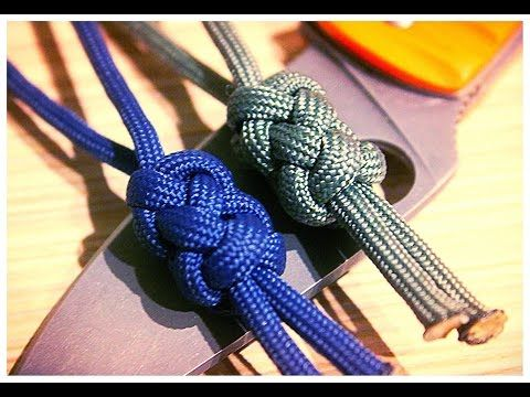 Как плести Standart Double Button Knot - YouTube