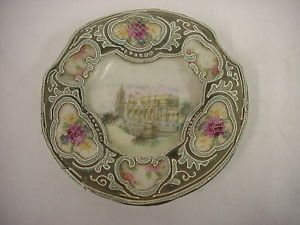 VINTAGE-NIPPON-HAND-PAINTED-BEADED-ASHTRAY-3-FOOTED