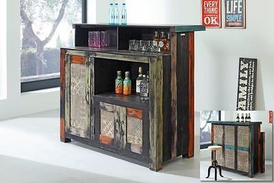 Bar Goa 3545 Mit Aufsatz Barmöbel Schrank Wolf Möbel Massivholz