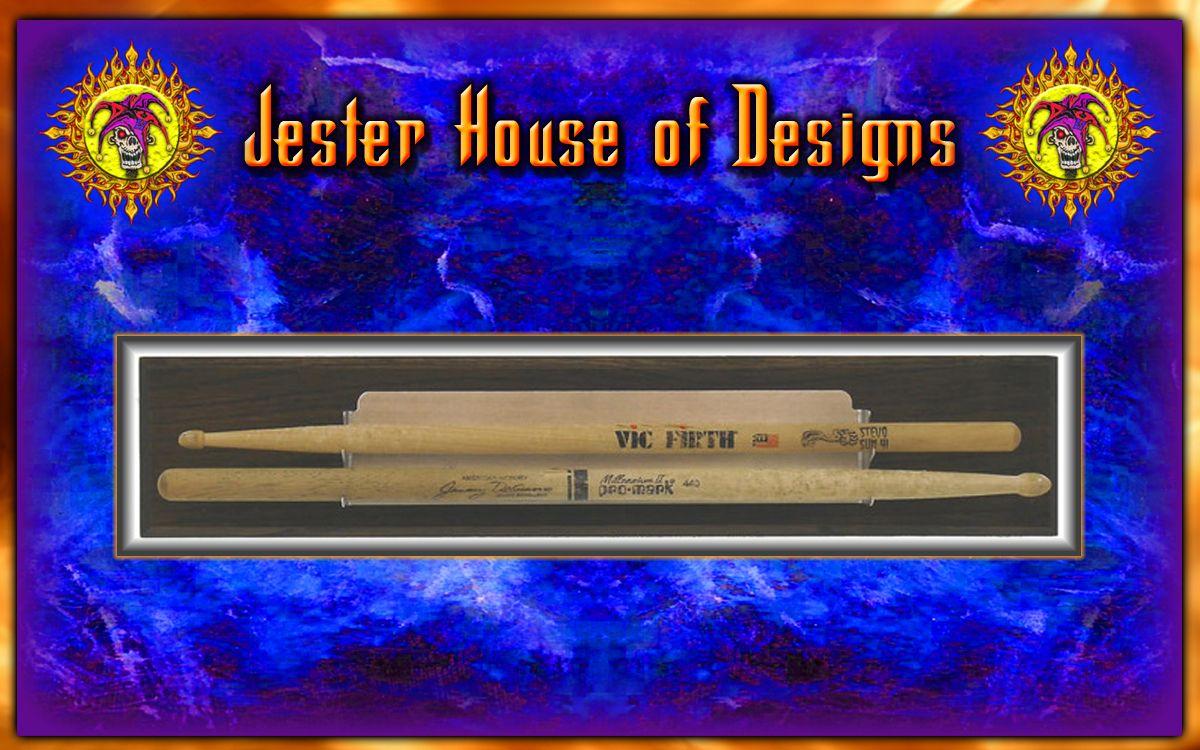 Holds 2 individual drumsticks