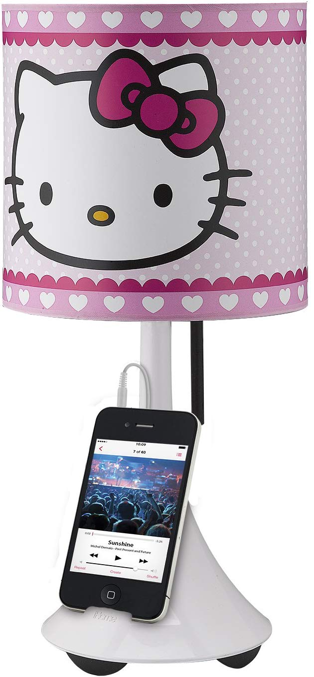 Amazon Com Hello Kitty Table Lamp With Built In Speaker Computers Accessories Hello Kitty Kitty Computer Accessories