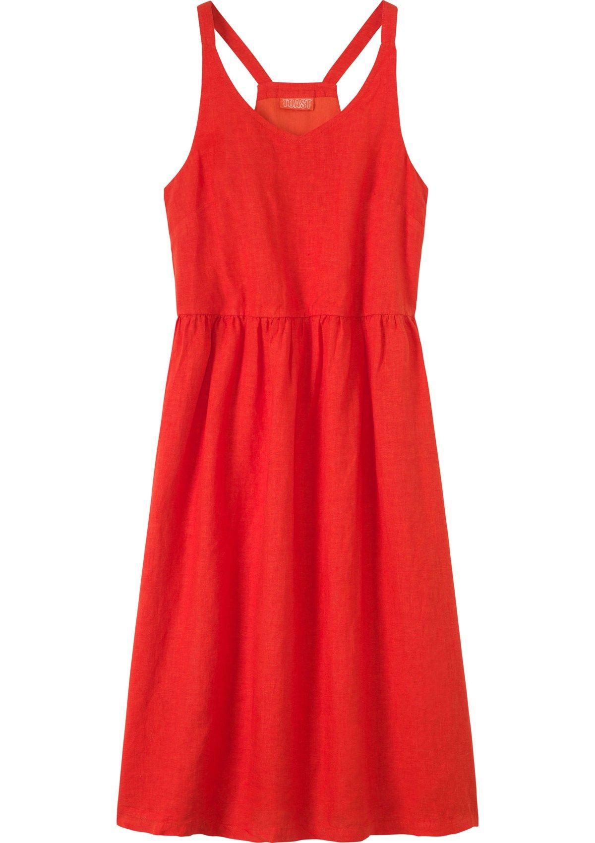 4db66dff51a Women s Vermillion Red Washed Linen Nightie
