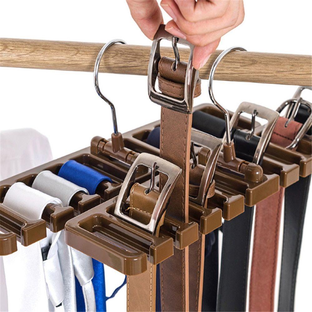 Belt Storage Rack Hanging Tie Shelf Closet Shelves Organizer