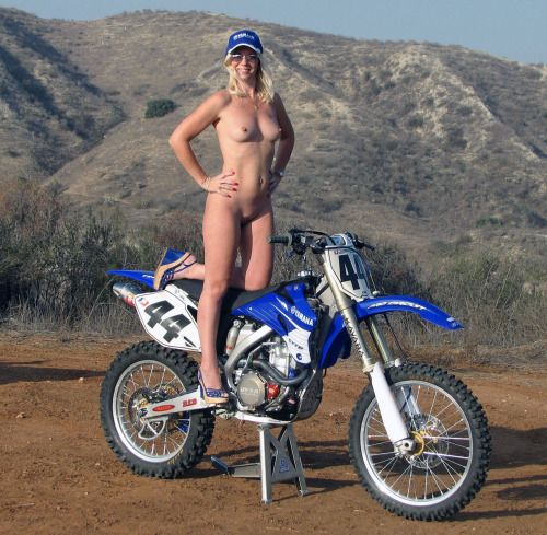 naked female dirtbike riders