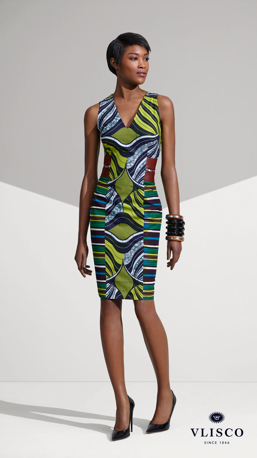 103268314edf FITTED VLISCO DRESS