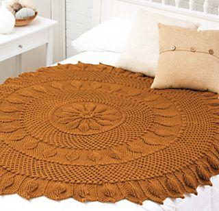 Chestnut Circular Throw ~ free pattern ᛡ Crochet! Magazine, Autumn 2015