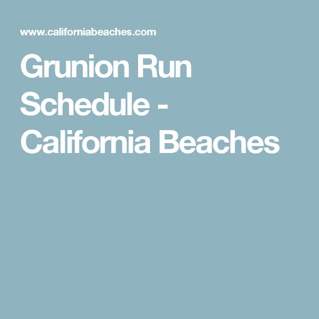Grunion Run Schedule California Beaches Fishing