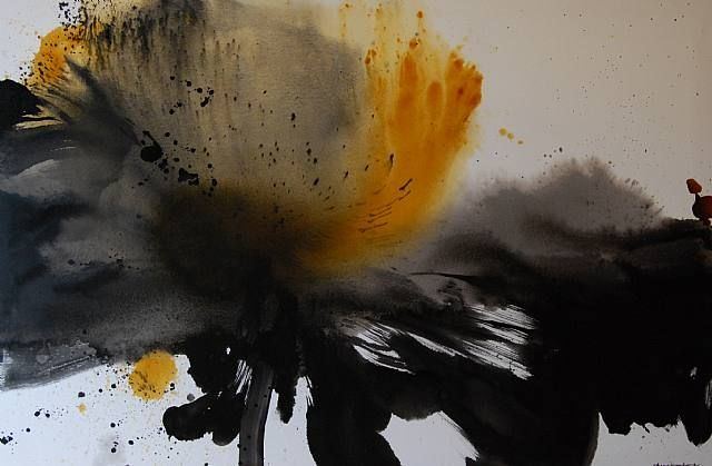 Chen Jiang Hong Lotus Ink Painting Lotus Art Abstract Painting