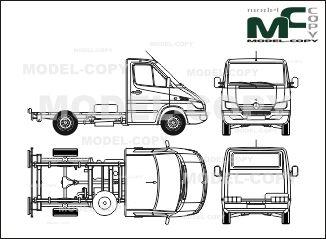 Mercedes-Benz Sprinter chassis, standard cab, short