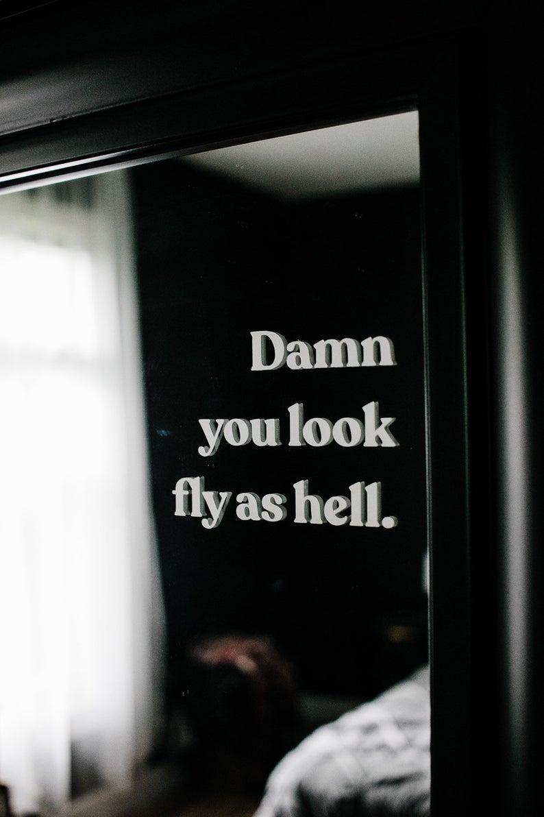 Mirror decal / bathroom mirror decal / vanity deca