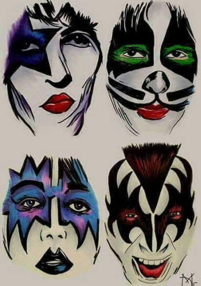 Pin By Pat On Kiss Kiss Artwork Kiss Rock Bands Kiss Art