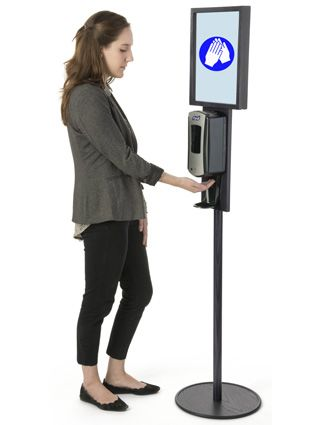 Purell Hand Sanitizer Dispenser Stations Peep The Check Desk In