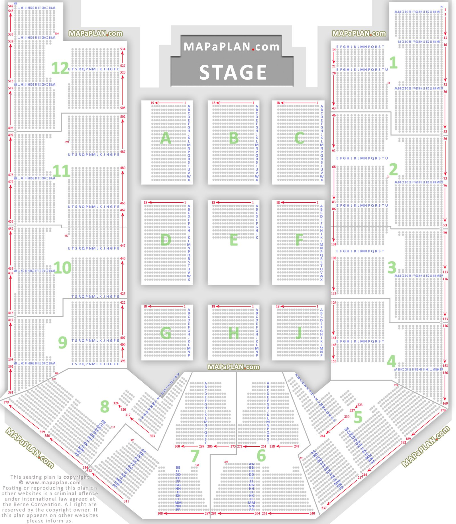 Birmingham Nia National Indoor Arena Seating Plan 01 Detailed Seat Row Numbers Concert Chart Floor Lower Upper Tier Levels Seating Plan How To Plan Birmingham
