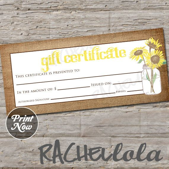 This Item Is Unavailable Etsy Printable Gift Certificate Printable Gift Gift Certificate Template