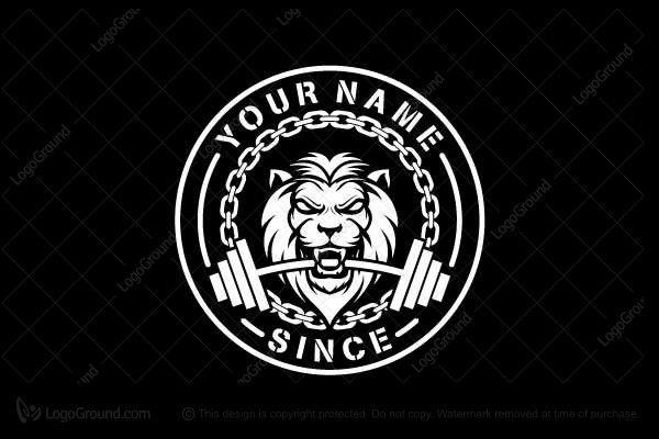 Lion Head Fitness Logo, #24hourfitnessnearme #Fitness #gymbag #Lion #Logo