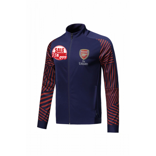 100% authentic c9aa2 a251b Arsenal Training Jacket 2018-19 Navy/Brown High Neck Cheap ...