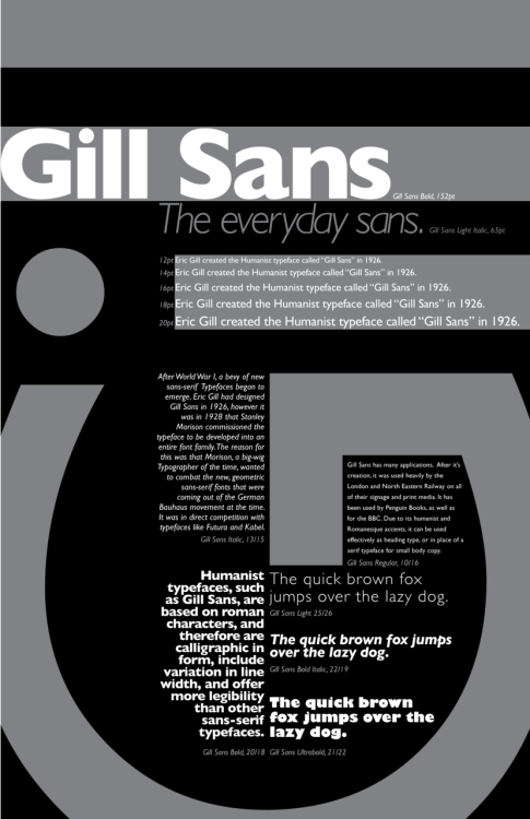 typography student poster project gill sans - Google Search