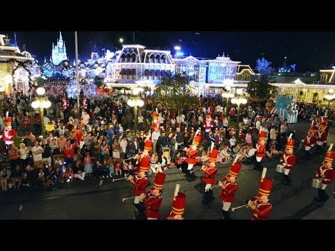 Mickey\u0027s Once Upon A Christmastime Parade 2013 from ABOVE at
