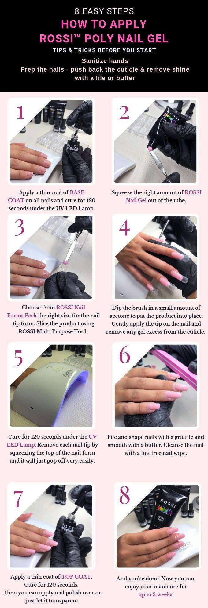 Rossi Nail Gel Kit Gel Nail Tutorial Gel Nail Kit Gel Nails Diy