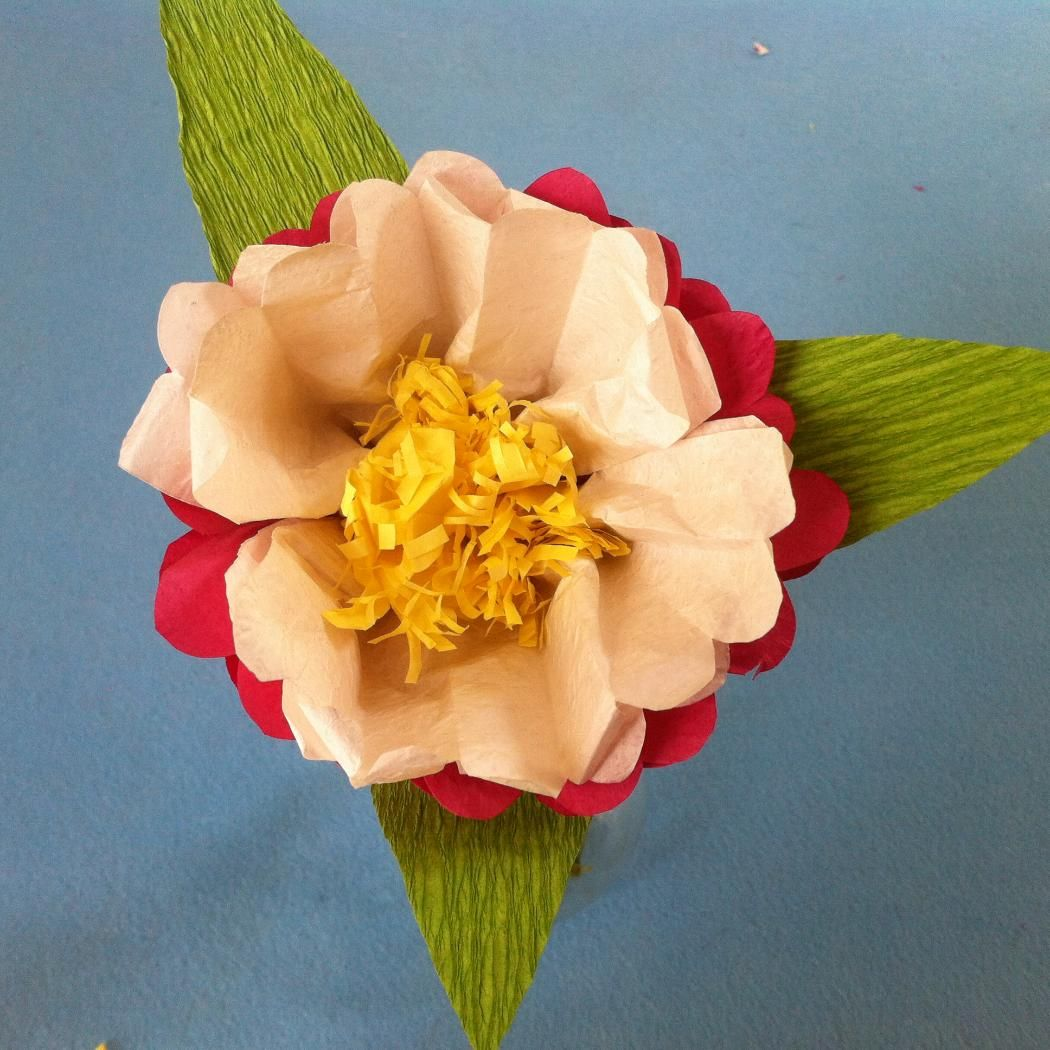 Kids Crafts For Mothers Day Make Tissue Paper Flowers For Mom