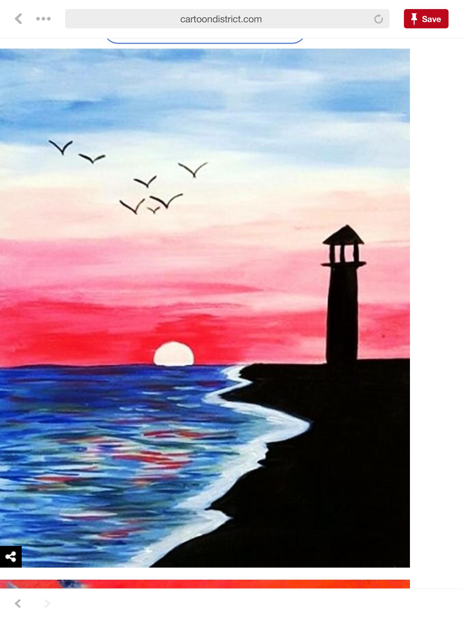 Pin By Ashley Mumford On Paint Night Art Painting Canvas Painting Easy Canvas Painting