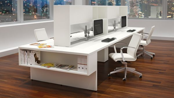 Modular Office Furniture Modern Workstations Cool Cubicles Sit Stand Benching Syste With Images Office