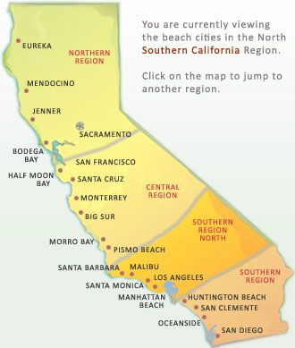Southern california beaches northern cities places for Beach cities in california