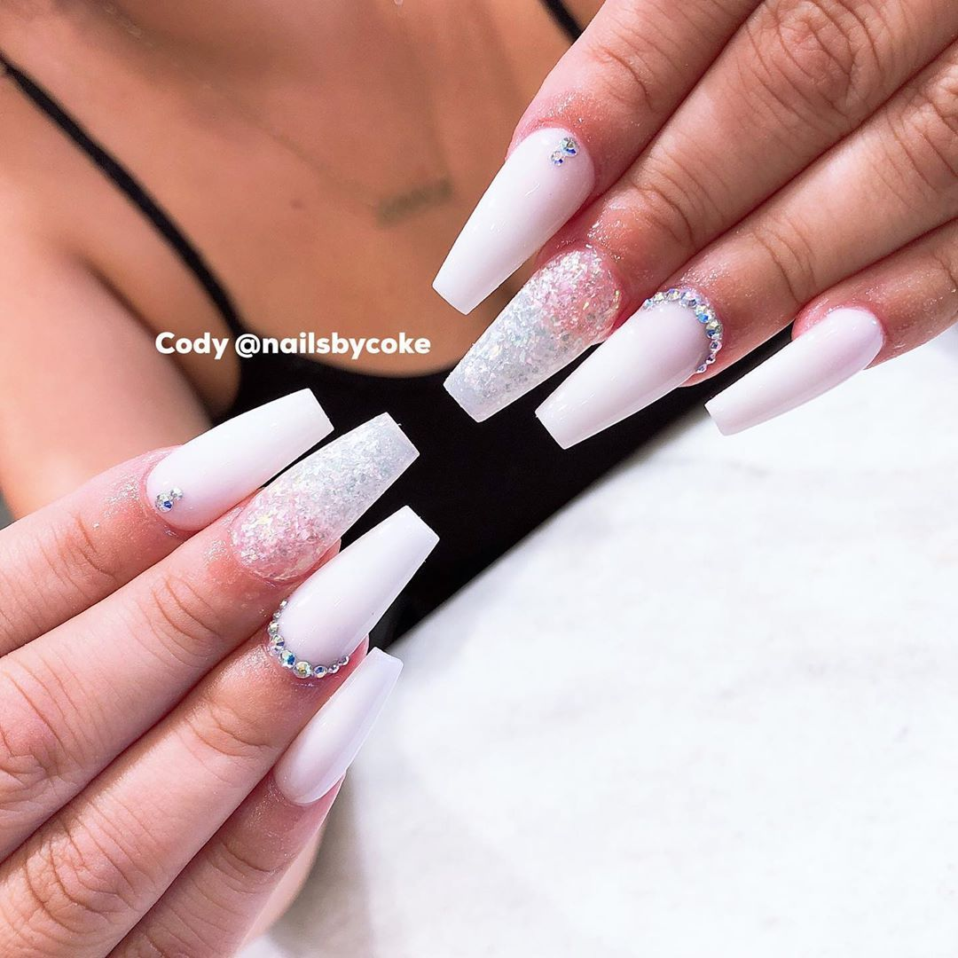 Nails Done By C O D Y At Monterey Park Nailsbycoke Nailsbycody Coffinnails Notpolish Ombrenails Geln How To Do Nails Swag Nails Fashion Nails