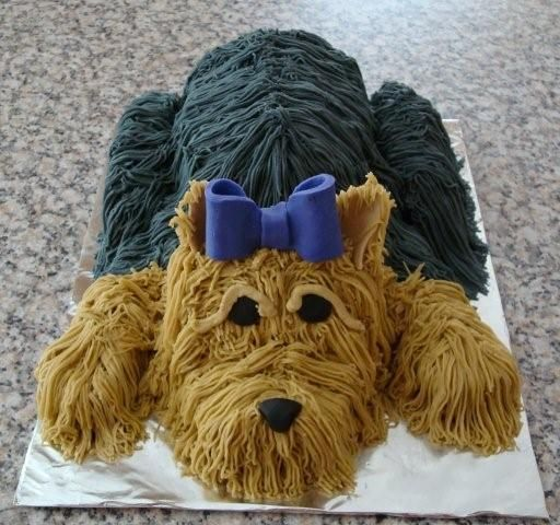 Amazing dog cake..how cute is that!