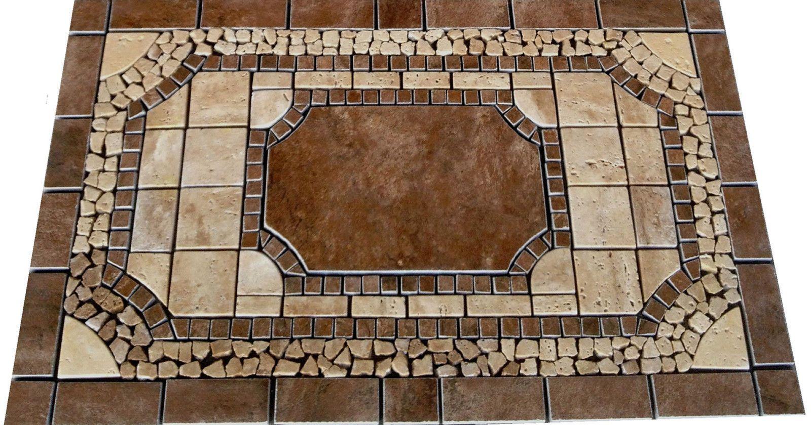 18x30 Venato Mosaic Medallion Kitchen Tile Backsplash