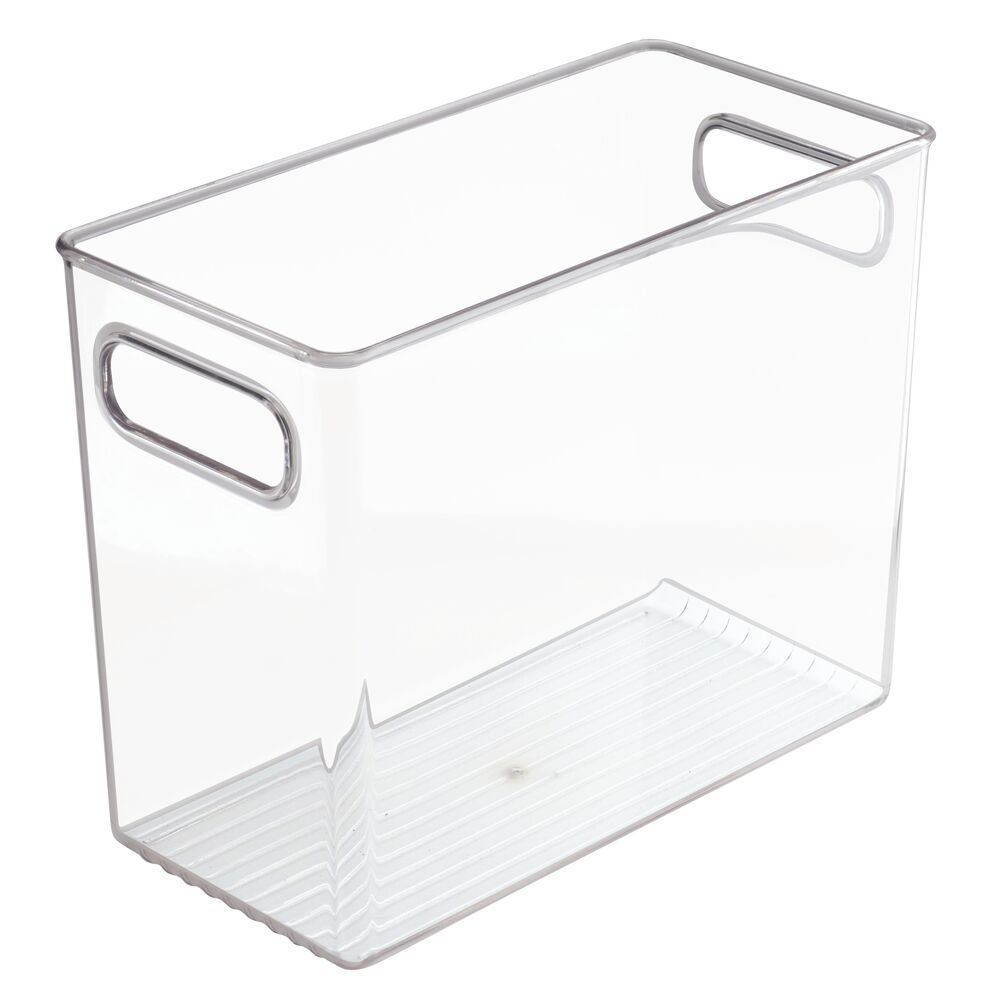 Plastic Kitchen Pantry Food Storage Organizer Bin 10 X 5 X 8 In Pack Of 4 In 2020 Pantry Storage Containers Organizing Bins Bathroom Vanity Storage