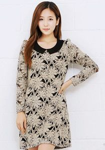 SALE: Laced Collar Dress @ $59 SGD only! (Available in: Beige, Pink, Brown)
