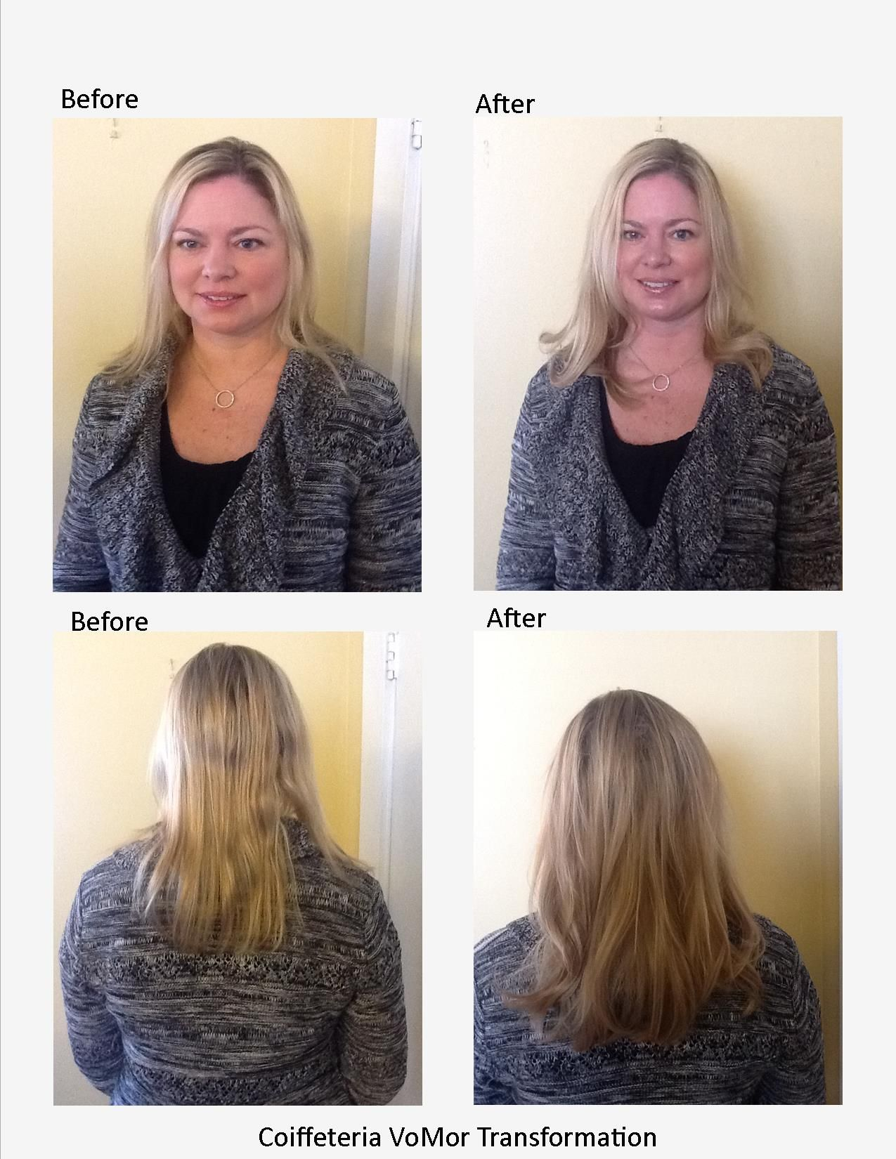 Before And After Photo From Coiffeteria Salon In Grand Rapids