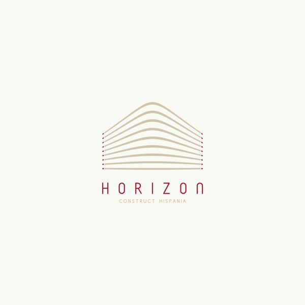 horizon logos by Alexandra Rusu, via Behance
