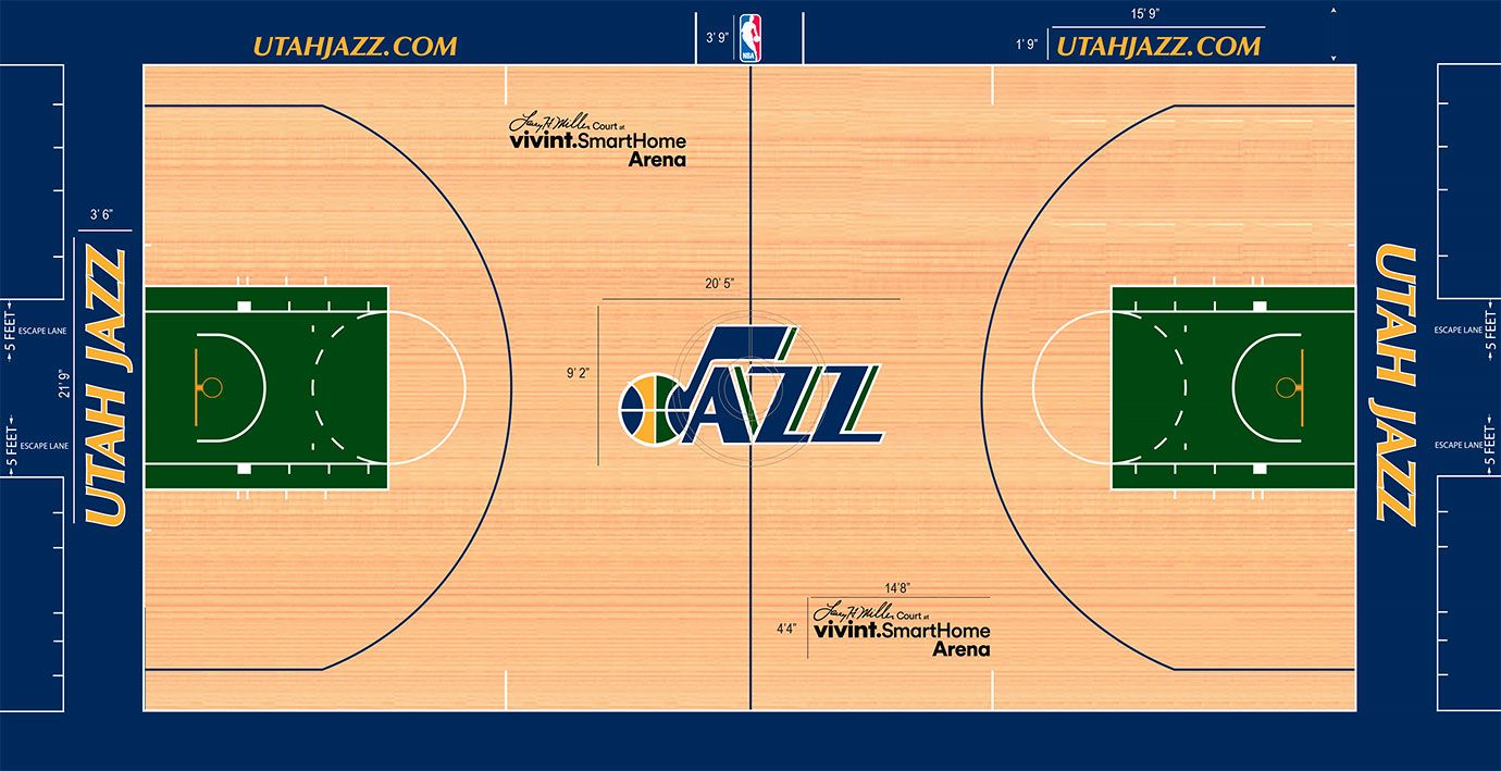 Power Ranking All 30 Nba Floor Designs Nba Floor Design Utah Jazz