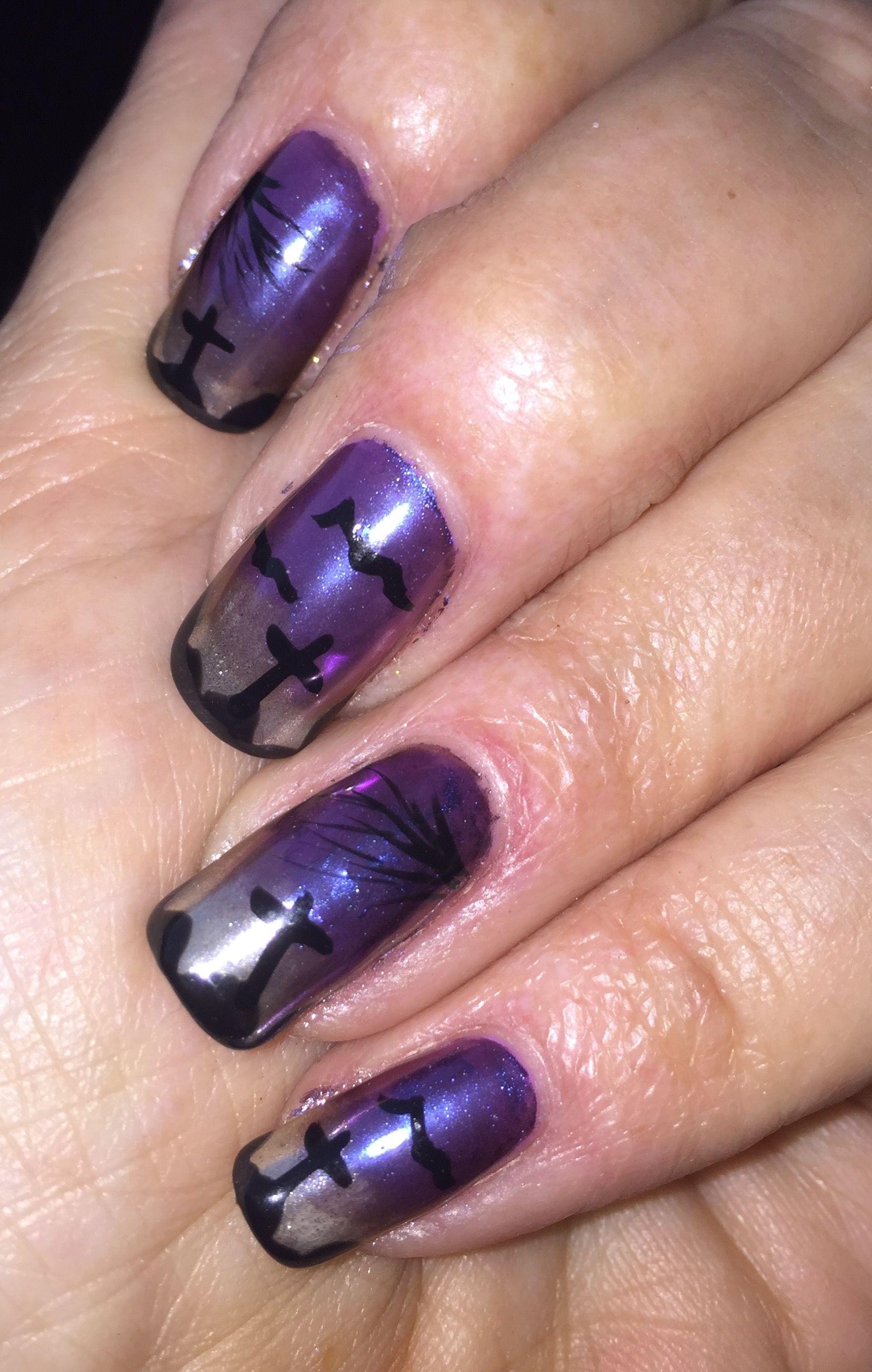 Chrome Halloween Manicure. | Halloween manicure, Manicure ...