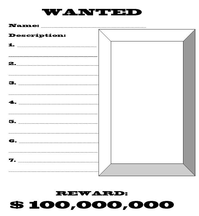 Wanted Blank Poster Template nt2 Pinterest Sentences - most wanted poster templates