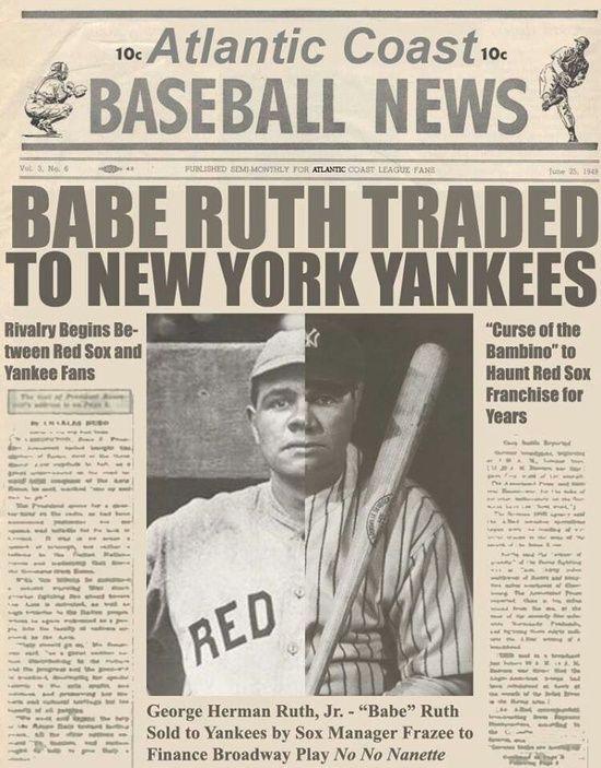 Babe Ruth Traded To New York Yankees  Sports  Baseball -4902