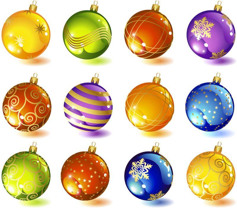 #Christmas tree glass ball ornaments #vector - Christmas Tree Glass Ball Ornaments #vector Graphics Christmas