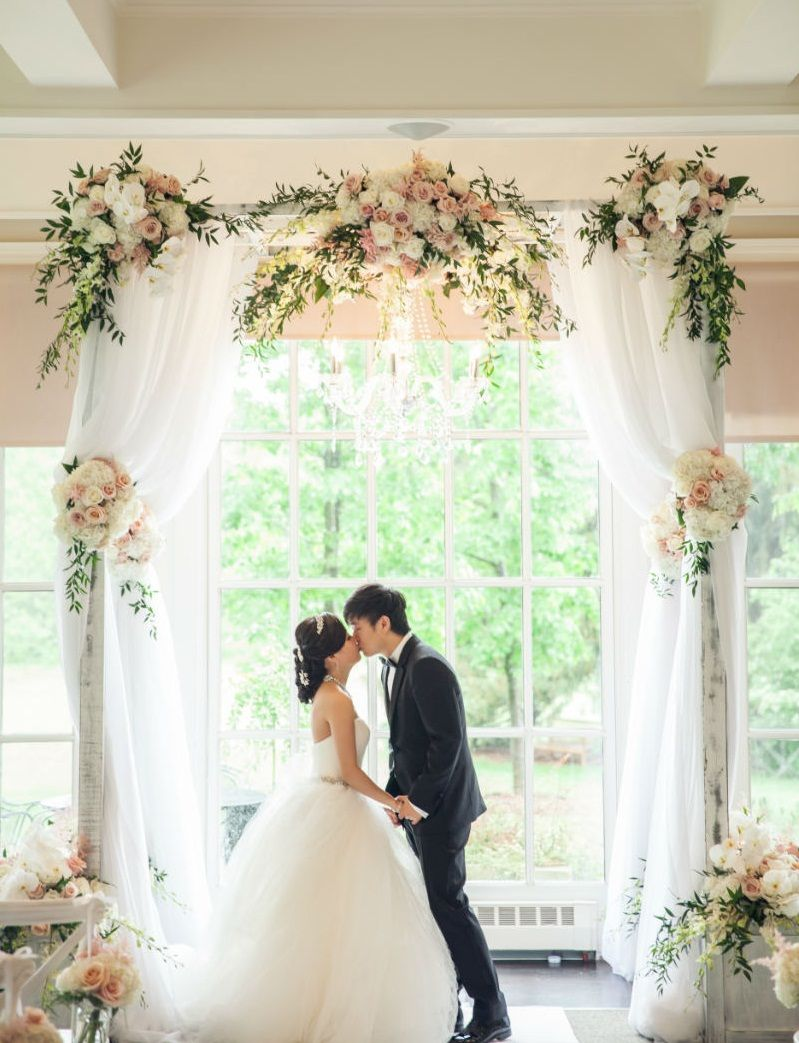 Best Ever Tulle Wedding Arch To Says Romantic Vows Indoor