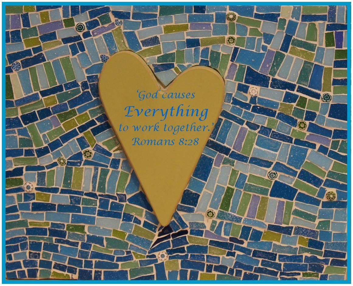 'God causes EVERYTHING to work together.' Romans 8:28 Even the broken pieces! #mosaics www.mosaicmasterpeace.com