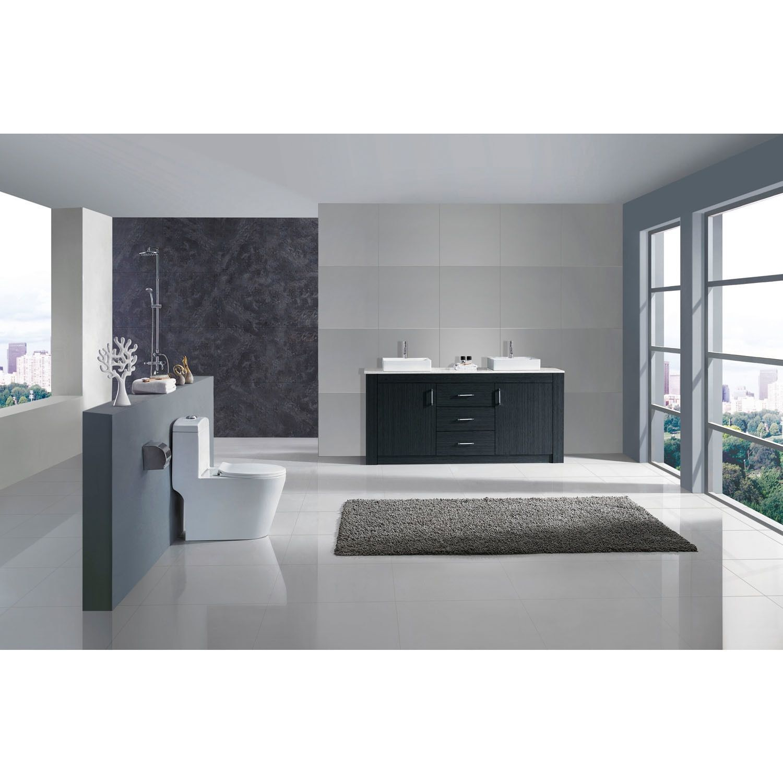 Virtu USA Tavian 60-inch Double Bathroom Vanity Set with No Mirror